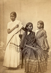 Group of two South Indian woman and a child, Madras. 4333
